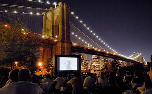 Projection au Brooklyn's Bridge Park