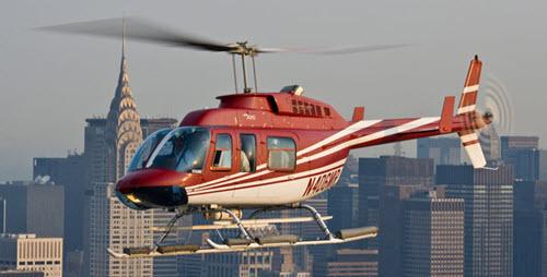 La balade en hélicoptère