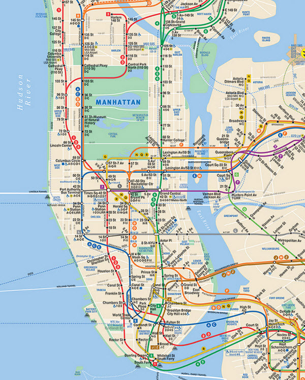 Métro de New-York : carte