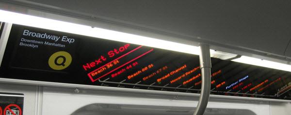 Arrêts de lignes de métro