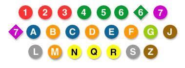 les lignes du métro de New-York
