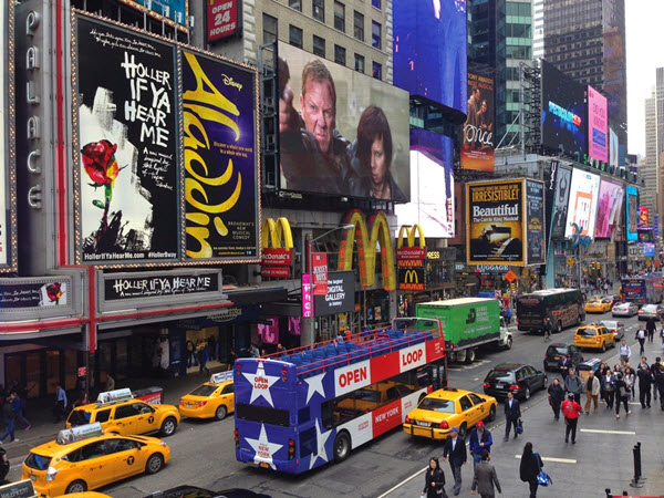 visite en bus time square new-york