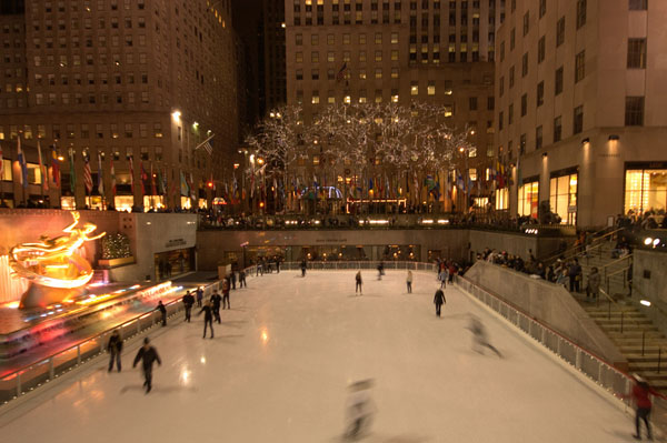 patinoire de Rockfeller center