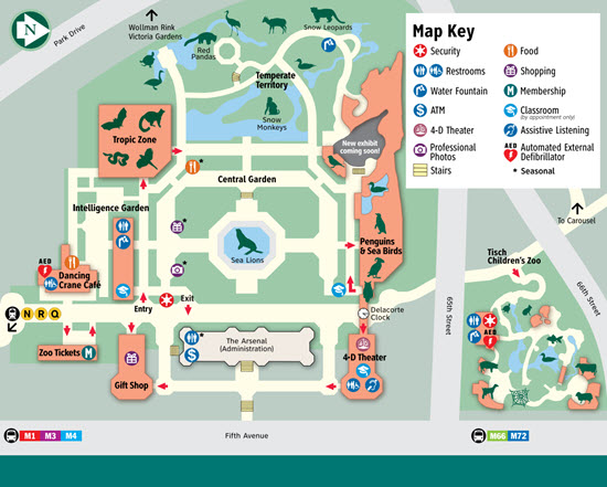 carte zoo central park