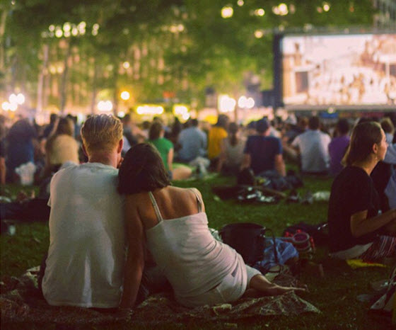 film plein air parc