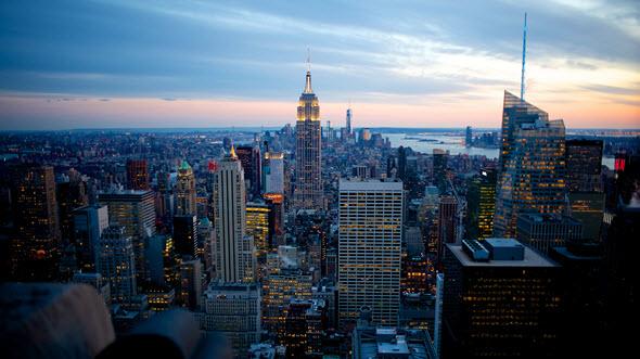 new york coucher soleil